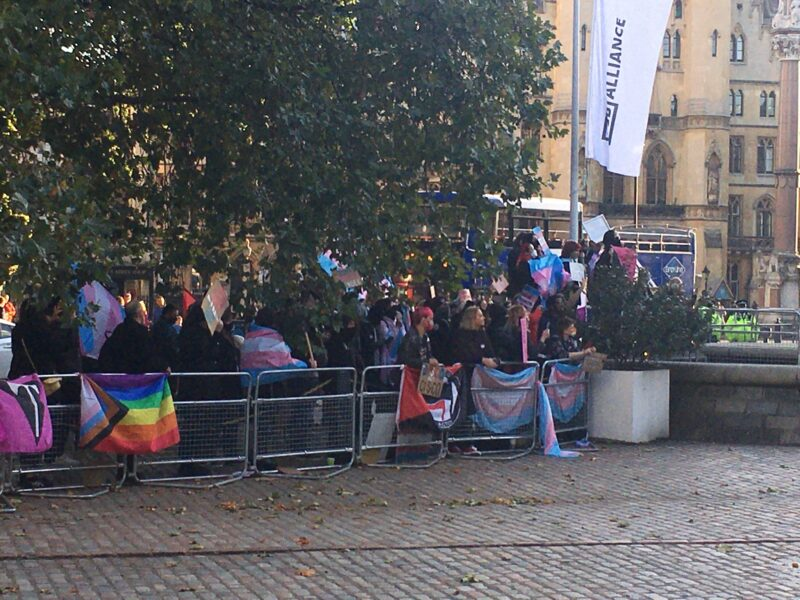 The Transgender community protests the LGB Alliance conference – Report